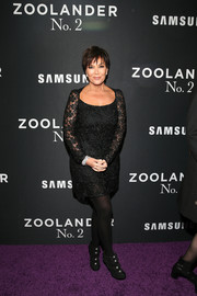 Kris Jenner attended the 'Zoolander No. 2' world premiere wearing a classic lace LBD.