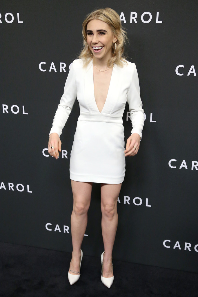 Zosia Mamet Mini Dress... Rosie Huntington Whiteley Makeup