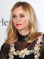 Diane Kruger opted for a straight 'do with flippy ends when she attended the amfAR Cinema Against AIDS Gala.