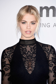 Hailey Clauson pulled her locks back into a loose center-parted updo for the amfAR Cinema Against AIDS Gala.