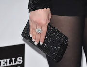 Rose McGowan sported some bright white digits at the amfAR Inspiration Gala, making her nails prettily pop against her black sequined clutch.