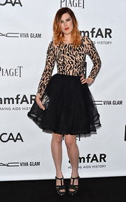 Rumer Willis looked ready to party in this fun beaded tulle dress at the amfAR Inspiration Gala.