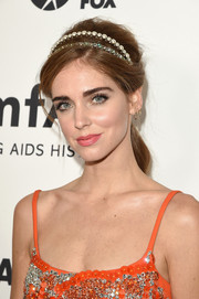 Chiara Ferragni sported a '60s-chic teased pony at the amfAR Inspiration Gala.