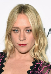 Chloe Sevigny wore her hair down to her shoulders with piecey waves during the amfAR Inspiration Gala.