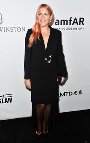 Busy Philipps kept it understated in a black tux dress at the amfAR Gala in Los Angeles.