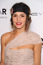 Margherita Missoni added a 1920s vibe to her amfAR New York gala look with a star-embellished black headband.