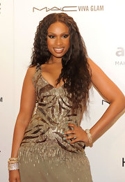 Jennifer Hudson attended the 2012 amfAR Gala wearing a vivid metallic green nail polish.