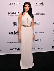 Ashley Greene joined forces with one of our favorite designers for this gorgeously modern Grecian look.