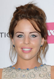 Lydia Rose Bright rocked a messy-chic updo at the Very.co.uk launch party.
