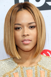 Serayah showed off a super-sleek graduated bob at the iHeartRadio Music Awards.