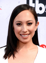 Cheryl Burke opted for a no-frills side-parted hairstyle when she attended the iHeartRadio Music Awards.