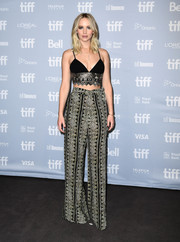 Jennifer Lawrence looked fabulous in a Sally LaPointe crop-top with metallic embroidery at the TIFF press conference for 'mother!'