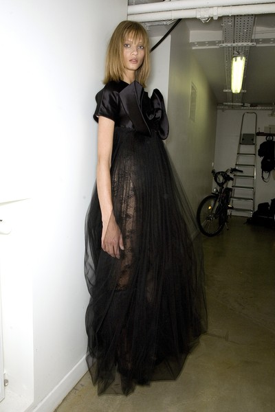 Anne Valérie Hash at Couture Fall 2008 (Backstage)