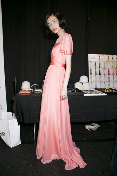 Badgley Mischka at New York Spring 2014 (Backstage)