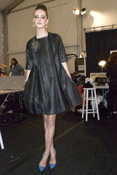 Brian Reyes at New York Fall 2009 (Backstage)