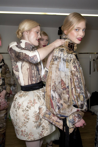 D&G Fall 2009 - Backstage