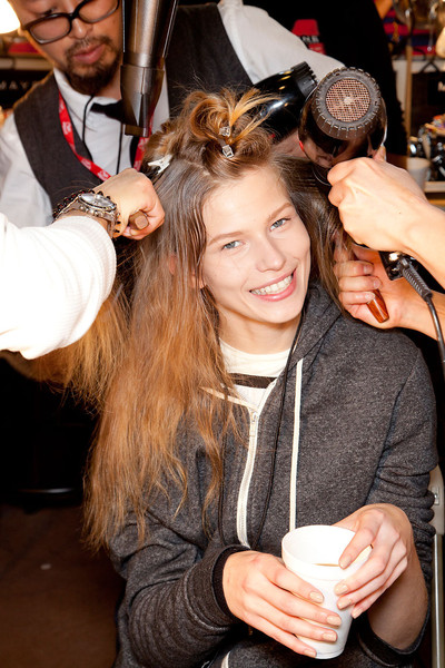 DKNY Fall 2012 - Backstage