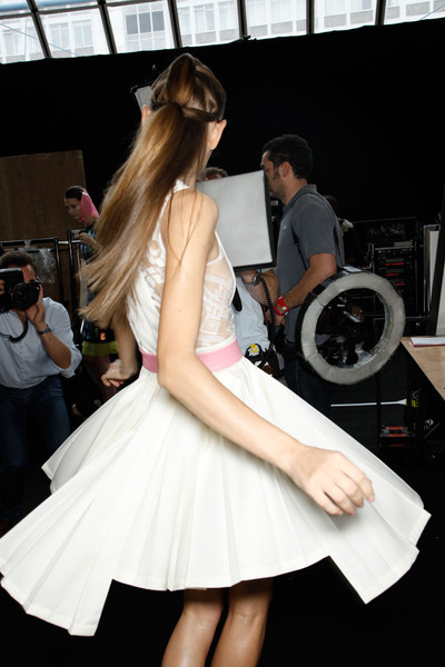 David Koma Spring 2012 - Backstage