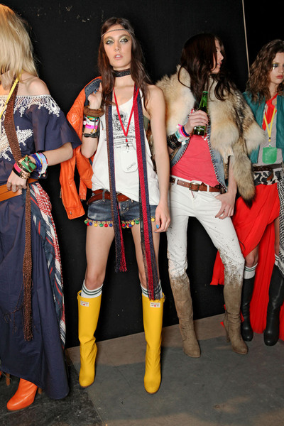 Dsquared² at Milan Spring 2012 (Backstage)