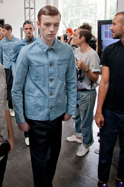 Duckie Brown at New York Spring 2013 (Backstage)
