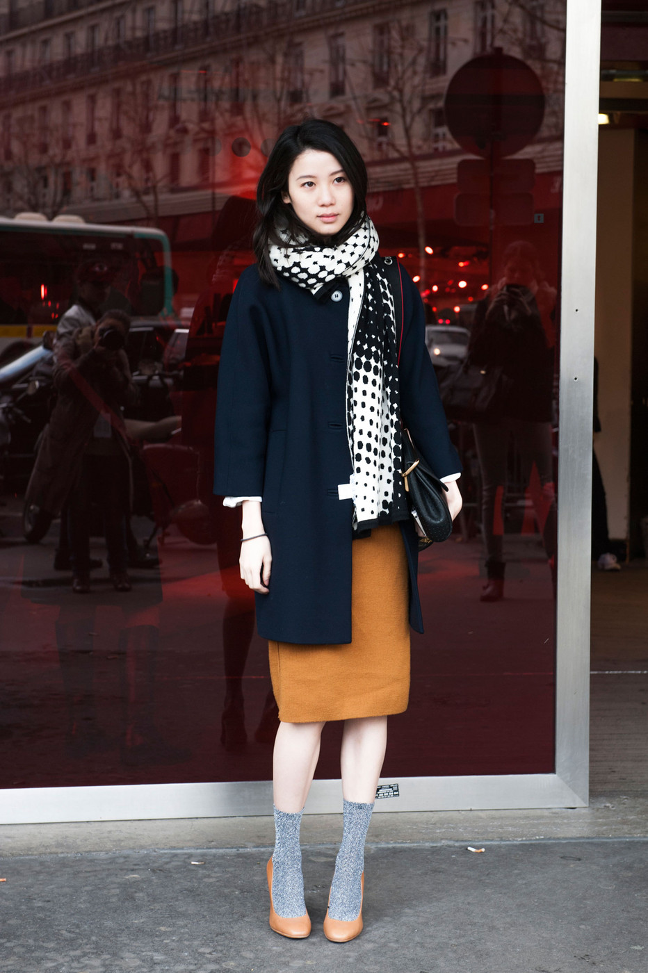 Socks And Heels The Most Standout Street Style At Paris Fashion Week Fall 2014 Stylebistro