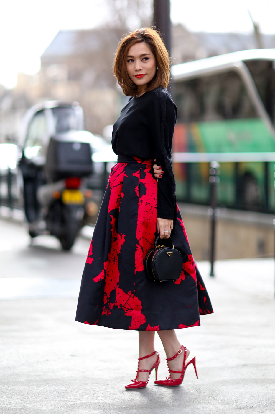 Black And Red The Most Standout Street Style At Paris