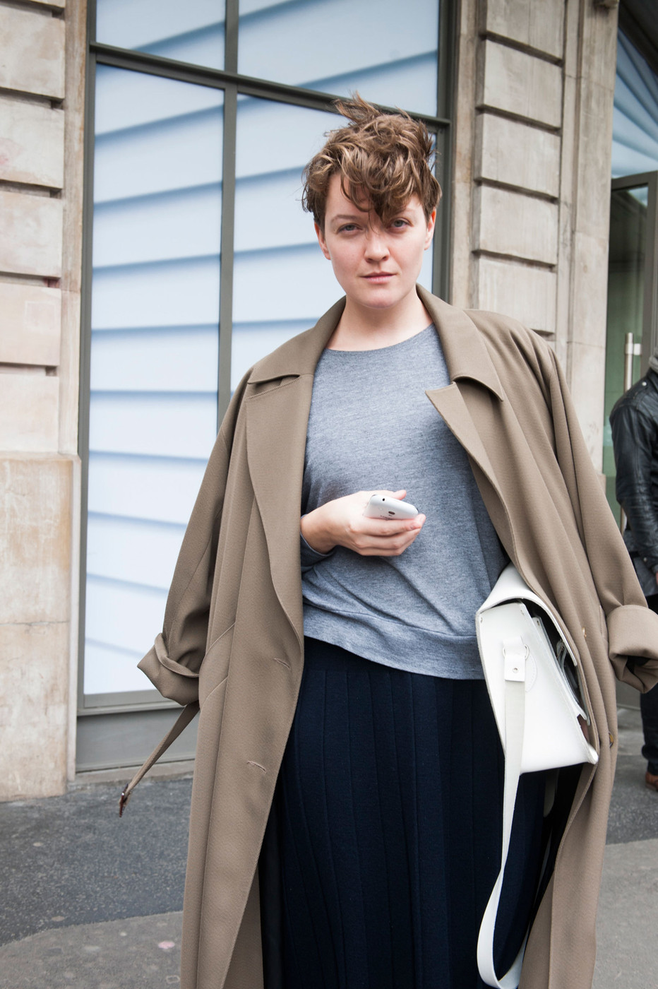 Solids The Most Standout Street Style At Paris Fashion Week Fall 2014 Stylebistro