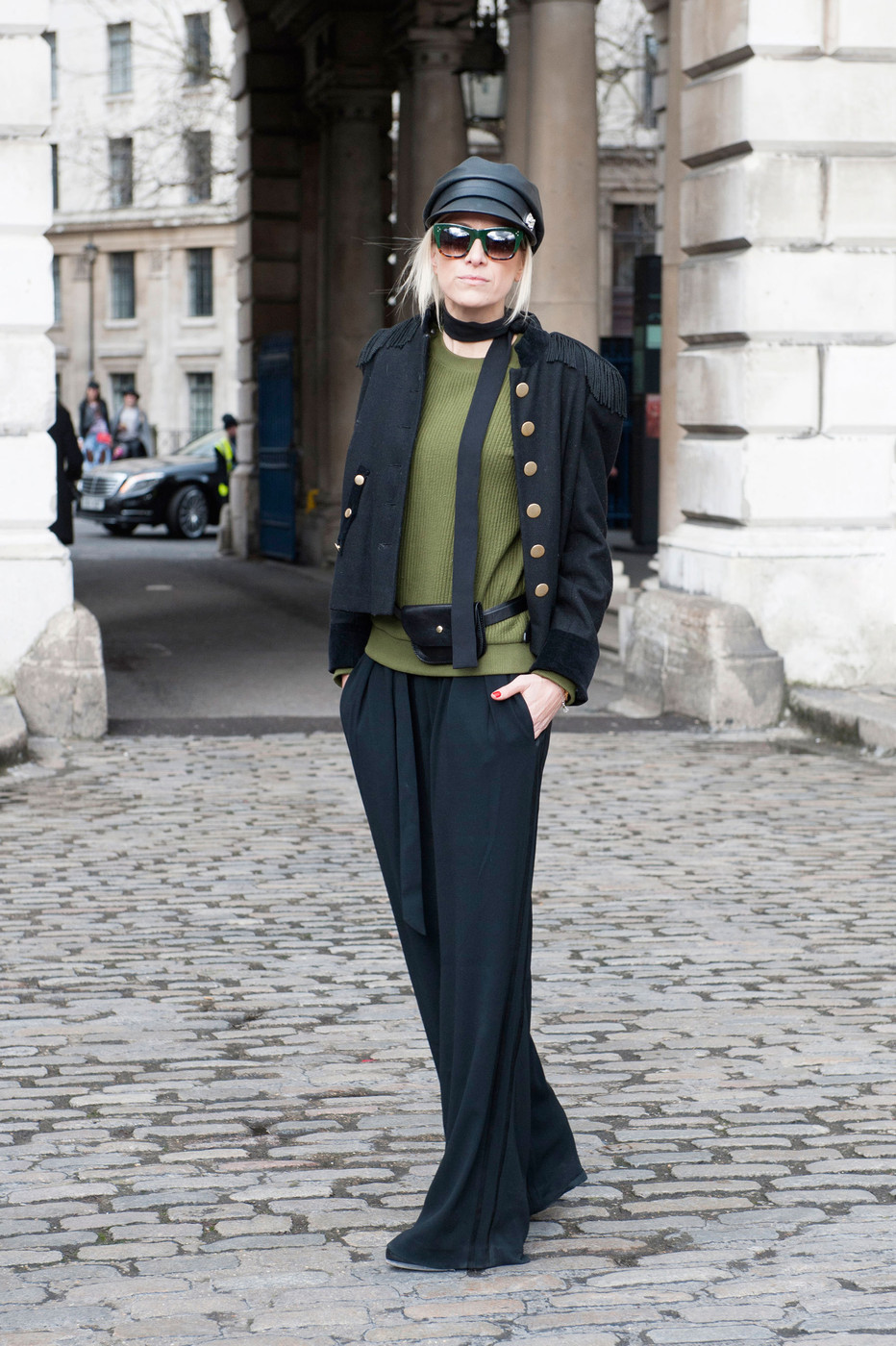 Military Mod Best Street Style At London Fashion Week Fall 2015 Stylebistro