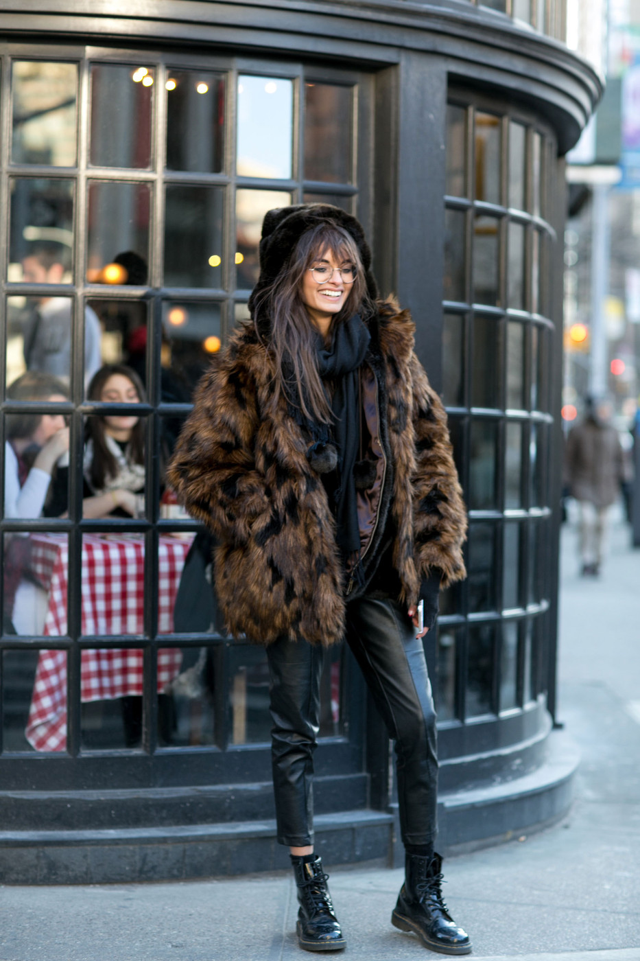 Tortoiseshell topper best street style from new york Street style ny fashion week fall 2015