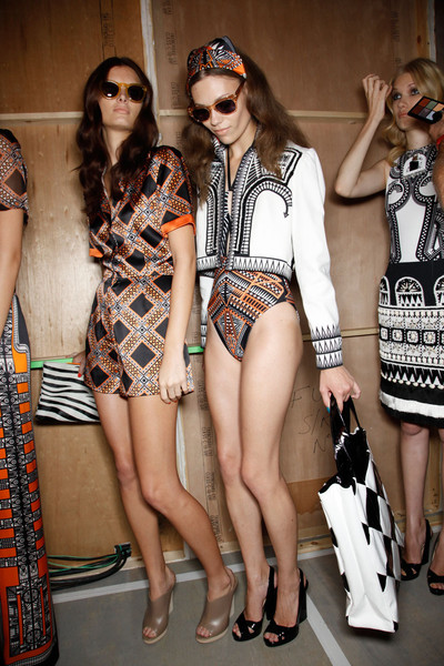 Holly Fulton Spring 2012 - Backstage