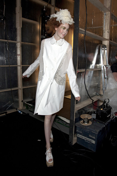 John Rocha at London Spring 2010 (Backstage)