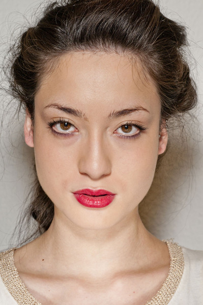 Kristina Ti at Milan Fall 2012 (Backstage)