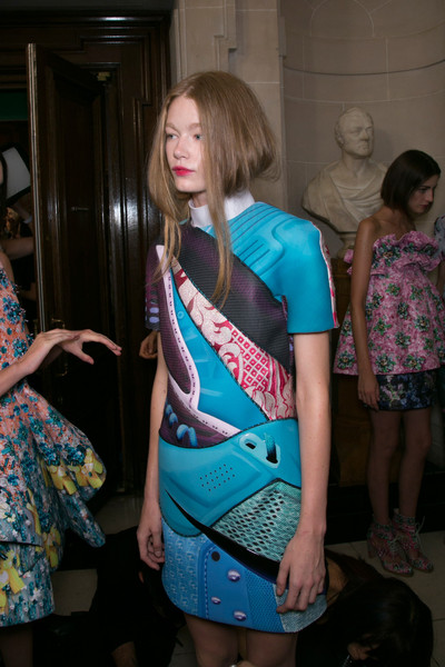 Mary Katrantzou Spring 2014 - Backstage