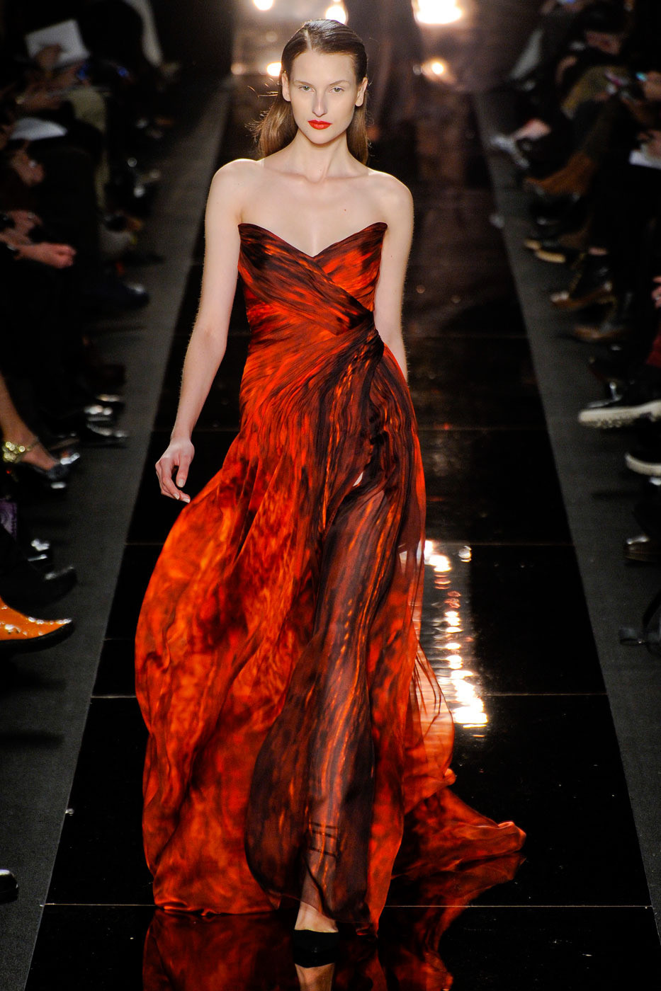 Monique Lhuillier S Fiery Gown The 20 Hottest Looks From
