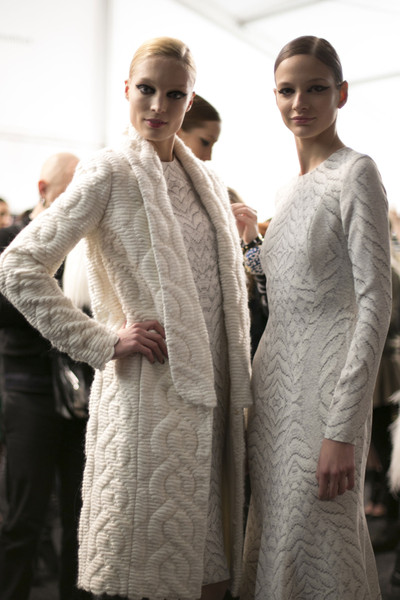 Monique Lhuillier at New York Fall 2013 (Backstage)
