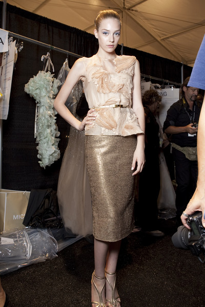 Monique Lhuillier Spring 2011 - Backstage