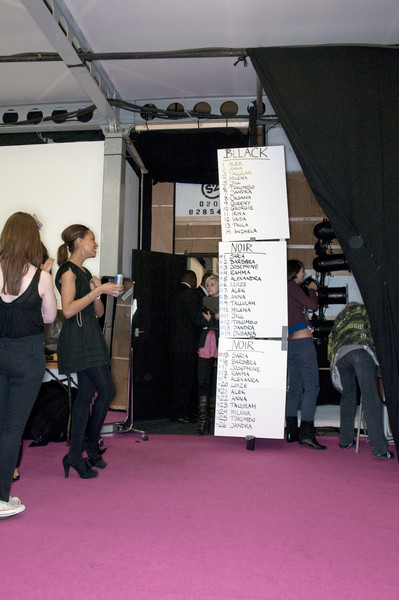 Noir Fall 2009 - Backstage
