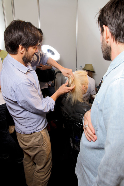 Roberto Cavalli at Milan Spring 2012 (Backstage)