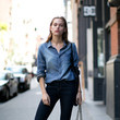 Chambray Shirt + Skinny Jeans