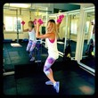 Bar Refaeli Gets Colorful at the Gym