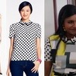 Mindy Kaling's Mixed Print Outfit on 'The Mindy Project'