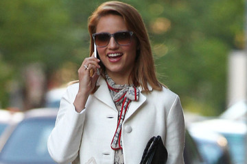Get the Look - Dianna Agron Wears Tory Burch Jacket and Sandals