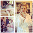 Monica Potter Plays With Hair Extensions