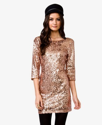 A Classic Sequined Sheath
