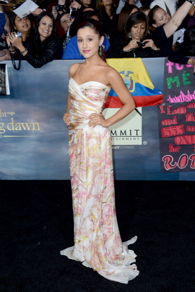 "Ariana Grande at 'The Twilight Saga: Breaking Dawn - Part 2"" Premiere"
