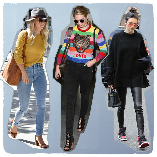 How Celebrities Style Cozy Sweaters