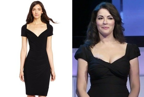 A Black Cap-Sleeve Dress Like Nigella Lawson's on 'The Taste'