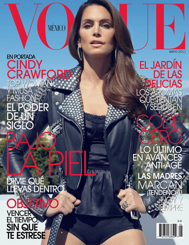 Cindy Crawford Covers 'Vogue' Mexico