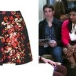 Mindy Kaling's Flared Floral Print Skirt on 'The Mindy Project'