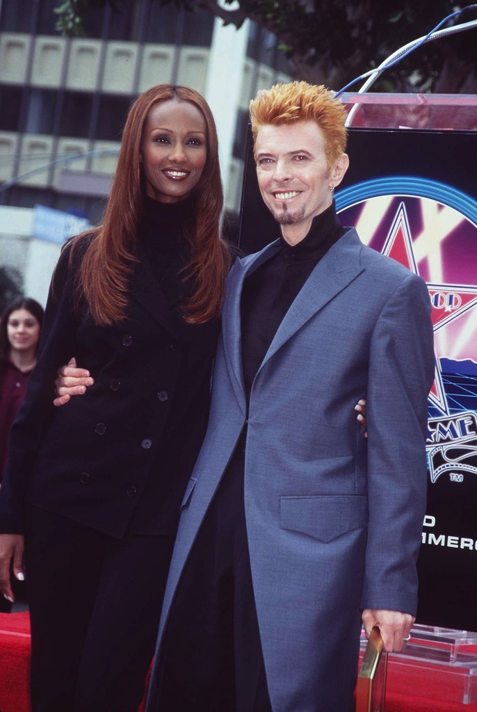 David Bowie on the Hollywood Walk of Fame in 1997